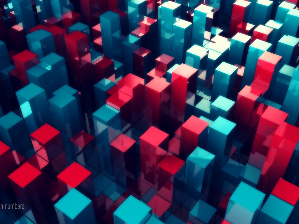 Abstract numbers 3d colors rendering wallpaper - Number wallpaper ...
