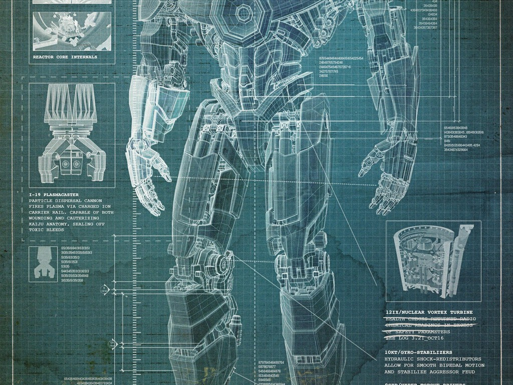 Movies robots design hollywood blueprint pacific rim wallpaper mobile malvernweather Image collections