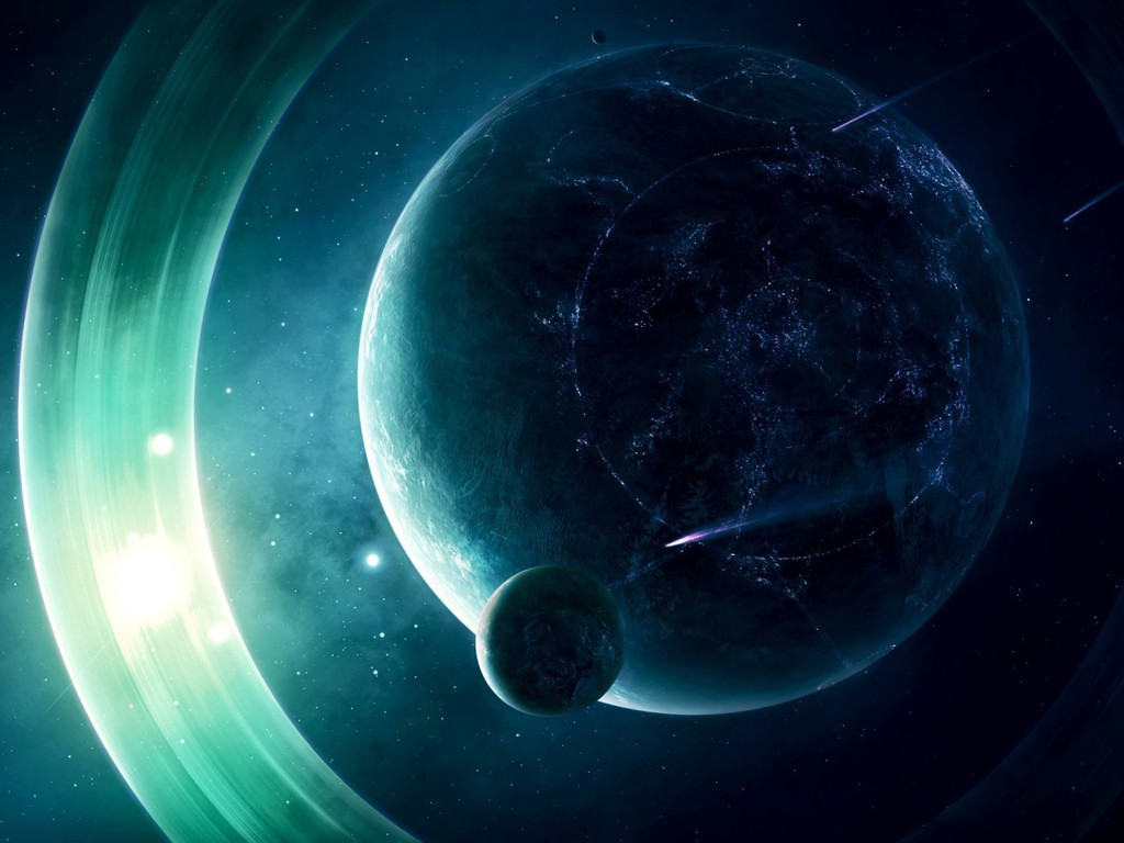 Light outer space planets rings wallpaper allwallpaper for Outer space planets