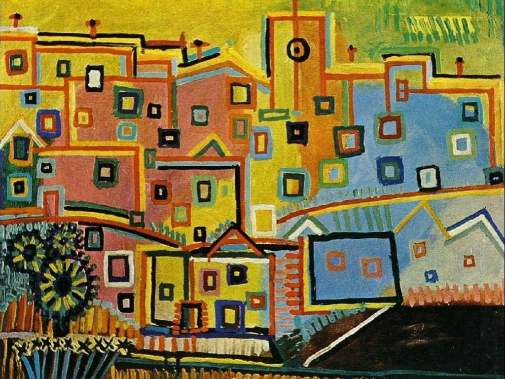 Artwork villages pablo picasso traditional art village - Art village wallpaper ...
