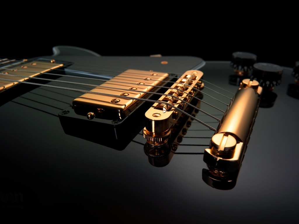 Amazing Wallpaper Music Ipad - black-and-gold-guitars-music-1024x768-wallpaper  Perfect Image Reference_36145.jpg
