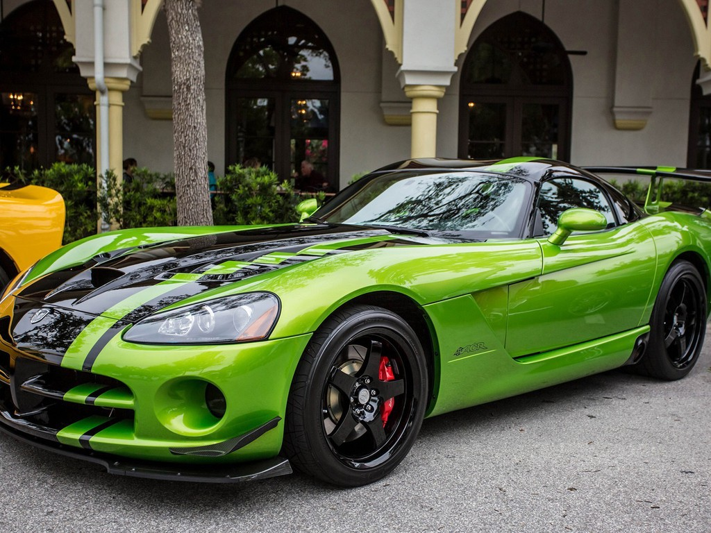 Dodge Viper Auto Cars Green Sport Wallpaper Allwallpaper