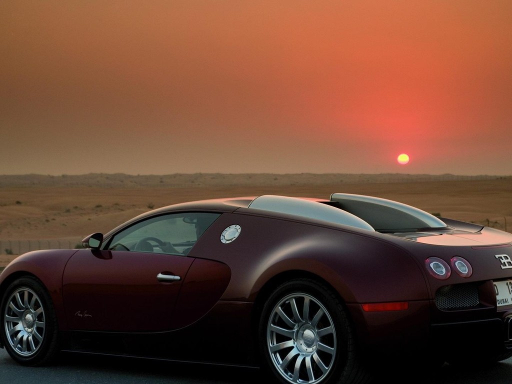 bugatti veyron centenaire at sunset wallpaper. Black Bedroom Furniture Sets. Home Design Ideas