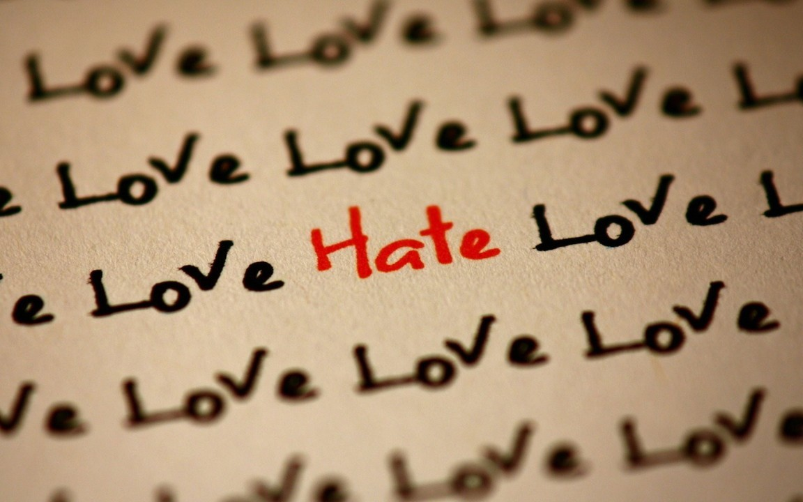 Wallpaper Of Love Quotes For Facebook: Hate Love Quotes Text Wallpaper