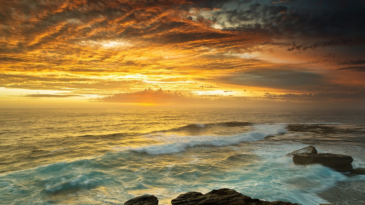 sunset ocean beach wallpaper | allwallpaper.in #15486 | pc | en
