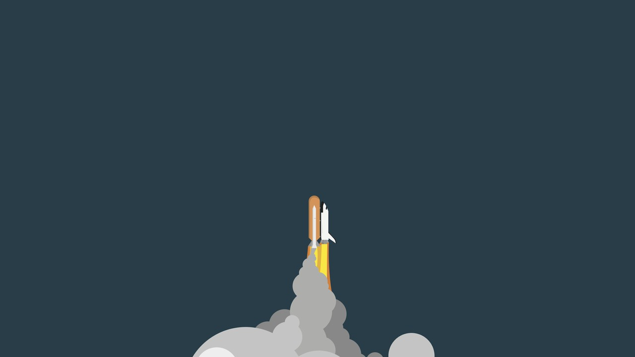 Vector Rocket Space Wallpaper
