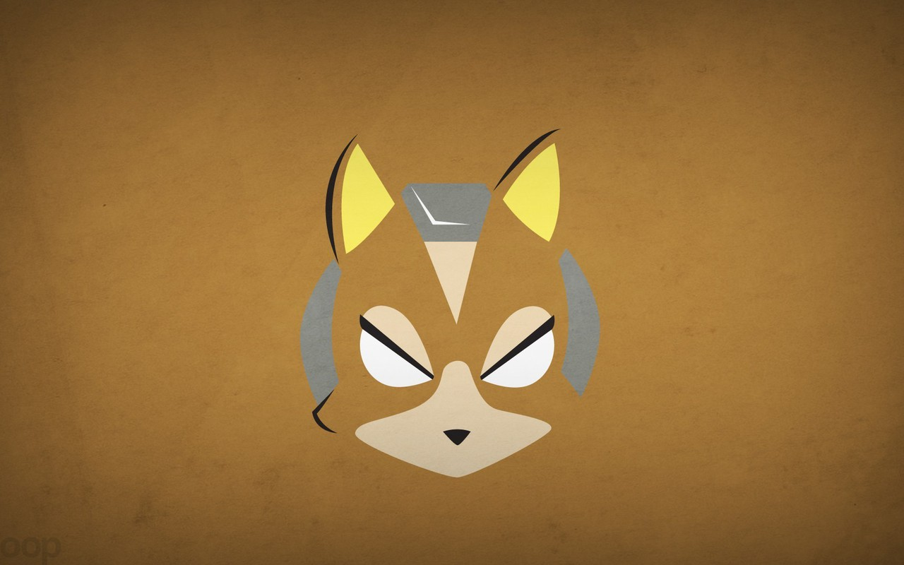 Minimalistic Superheroes Star Fox Brown Background Blo0p