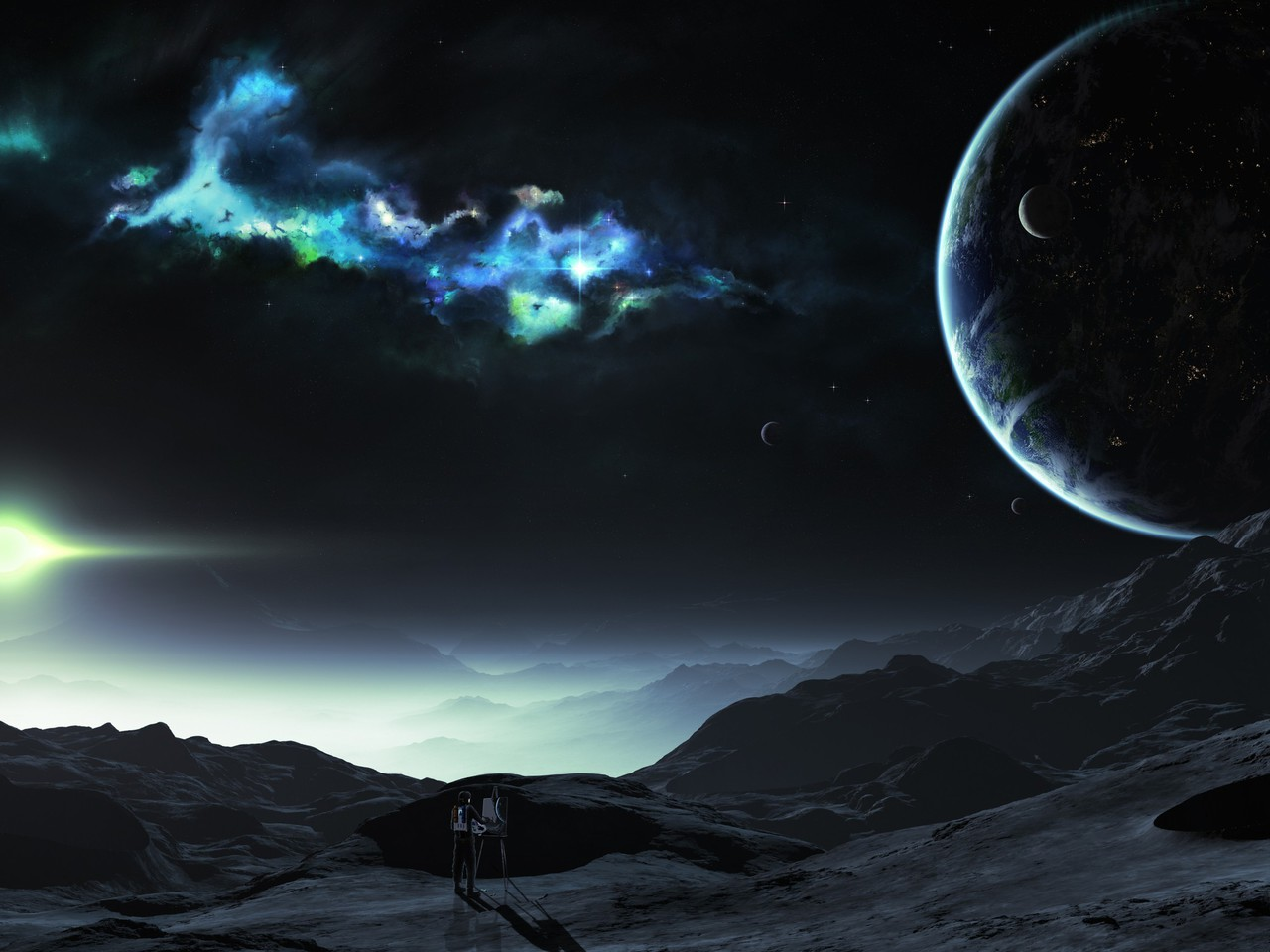 Tyler young artwork outer space planets wallpaper for Outer space planets