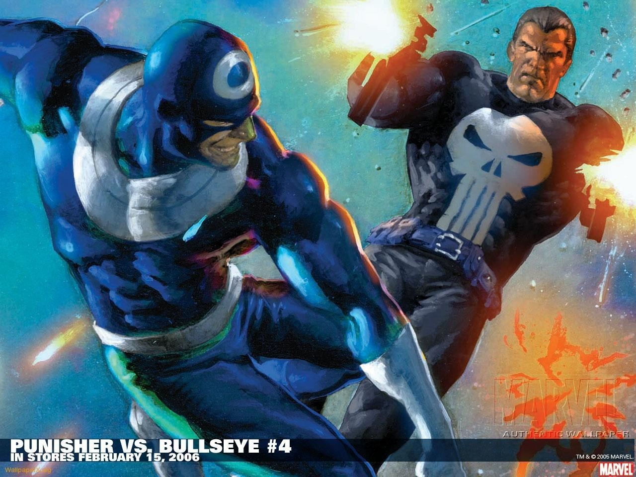 Comics the punisher marvel bullseye wallpaper ...