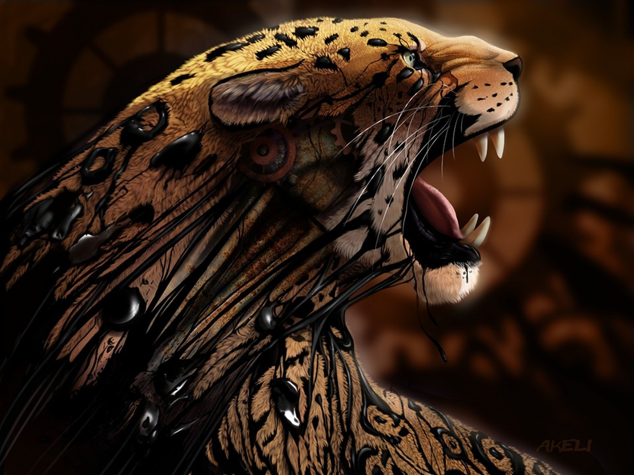 Tiger Art Wallpaper Jpg 960 800: A Stunning Tiger Wallpaper