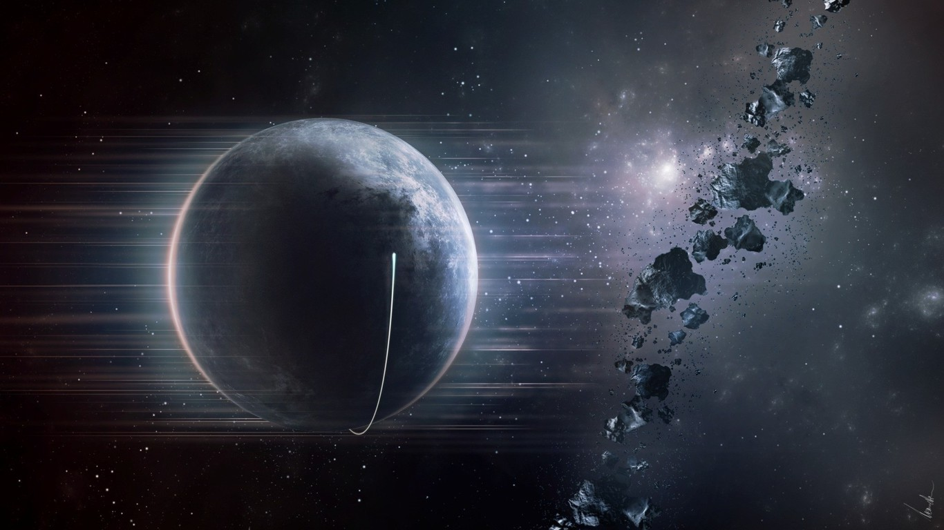Outer space planet earth asteroids wallpaper | AllWallpaper.in #13094 ...
