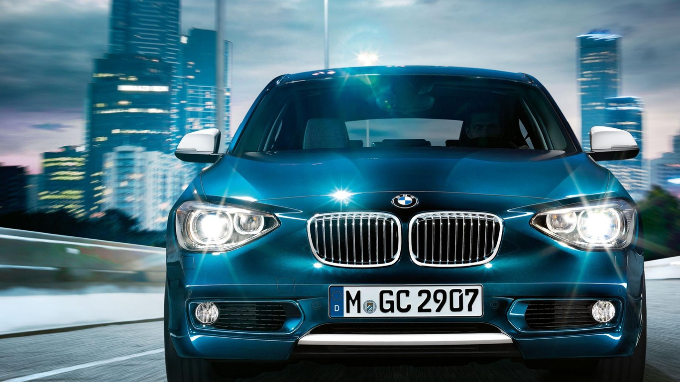 Bmw 1 Series Blue Cars Hatchback Wallpaper