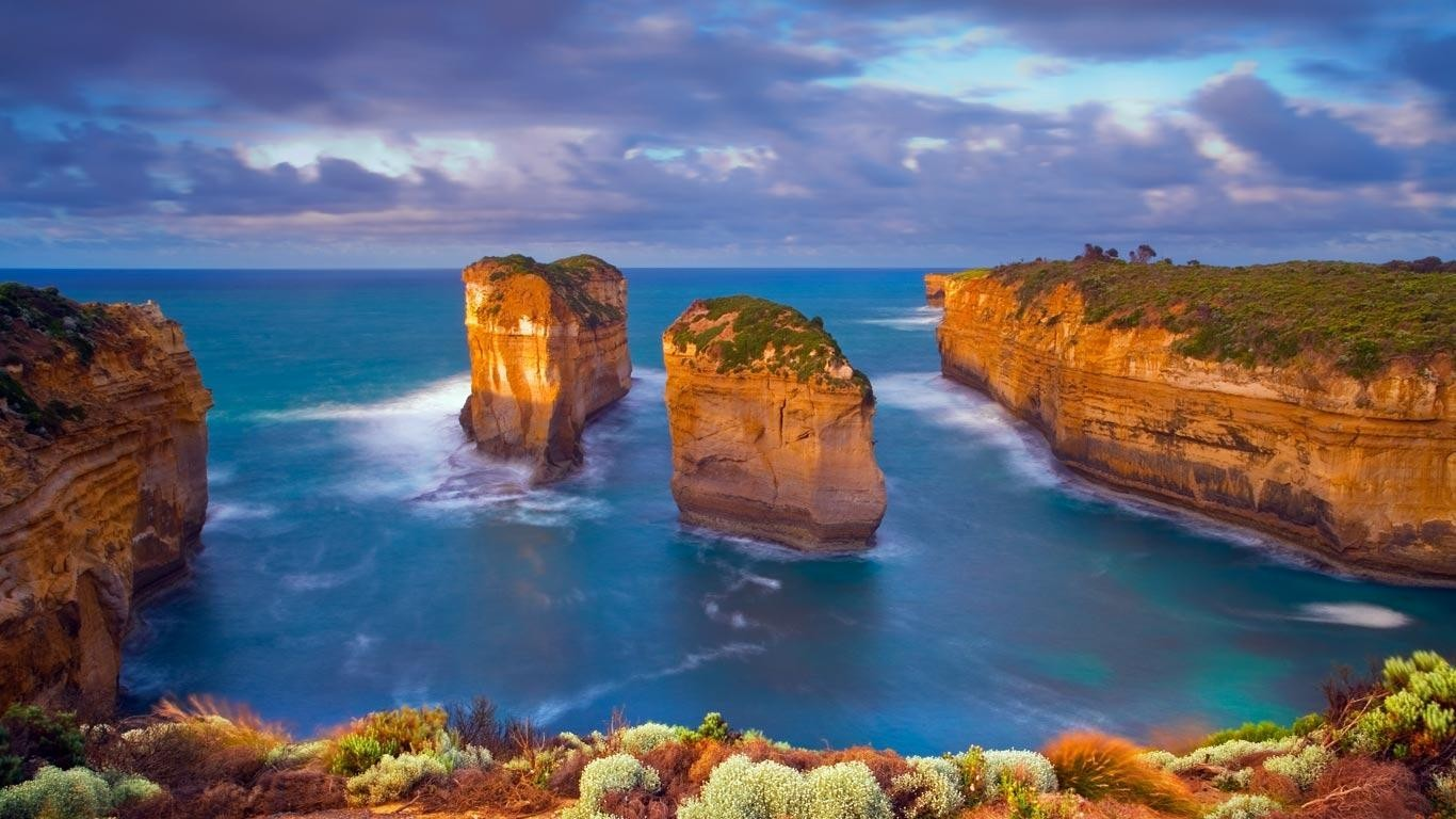 Cliffs australia bing sea wallpaper for Homepage wallpaper