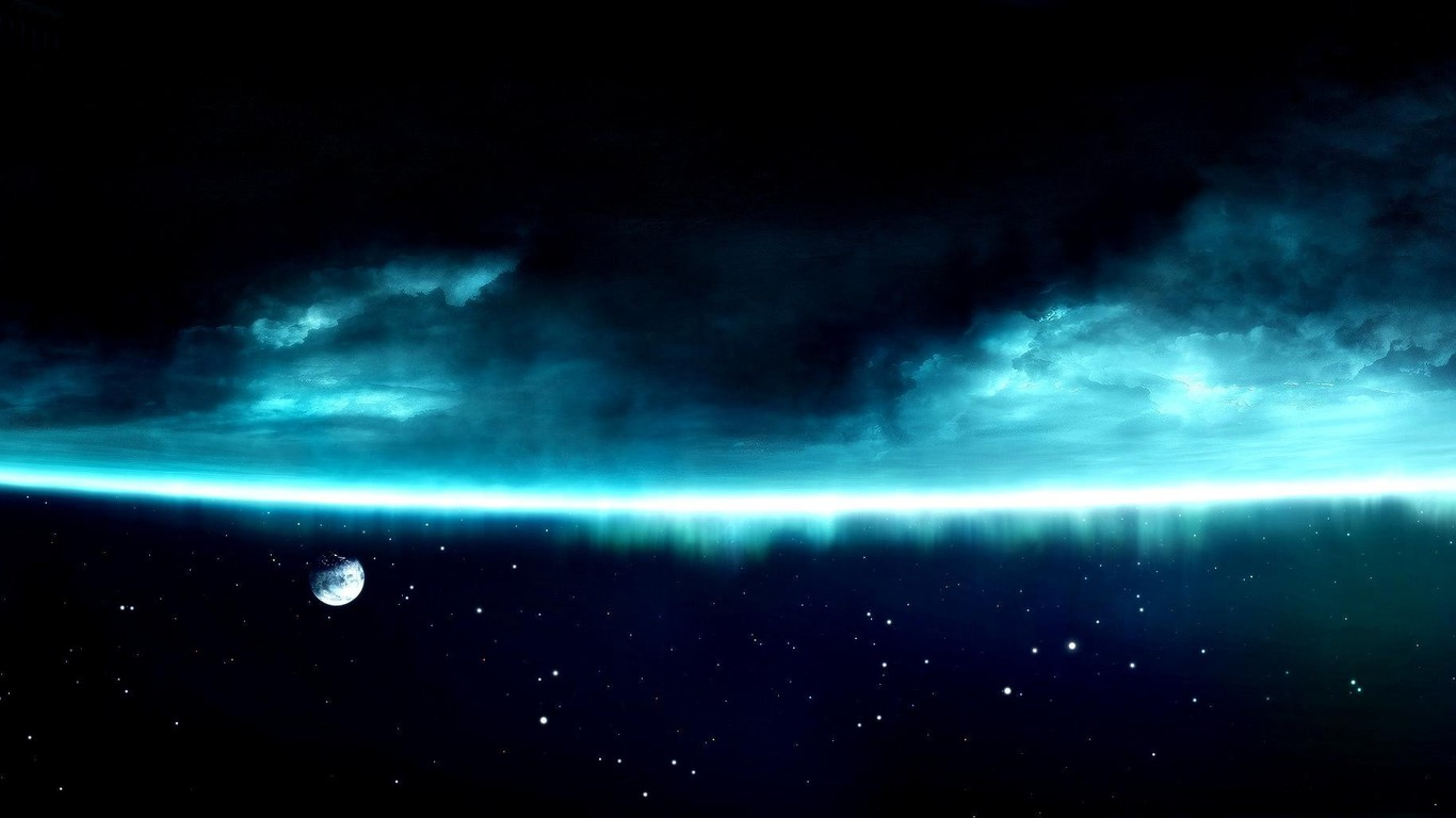 outer space multiscreen wallpaper 9124