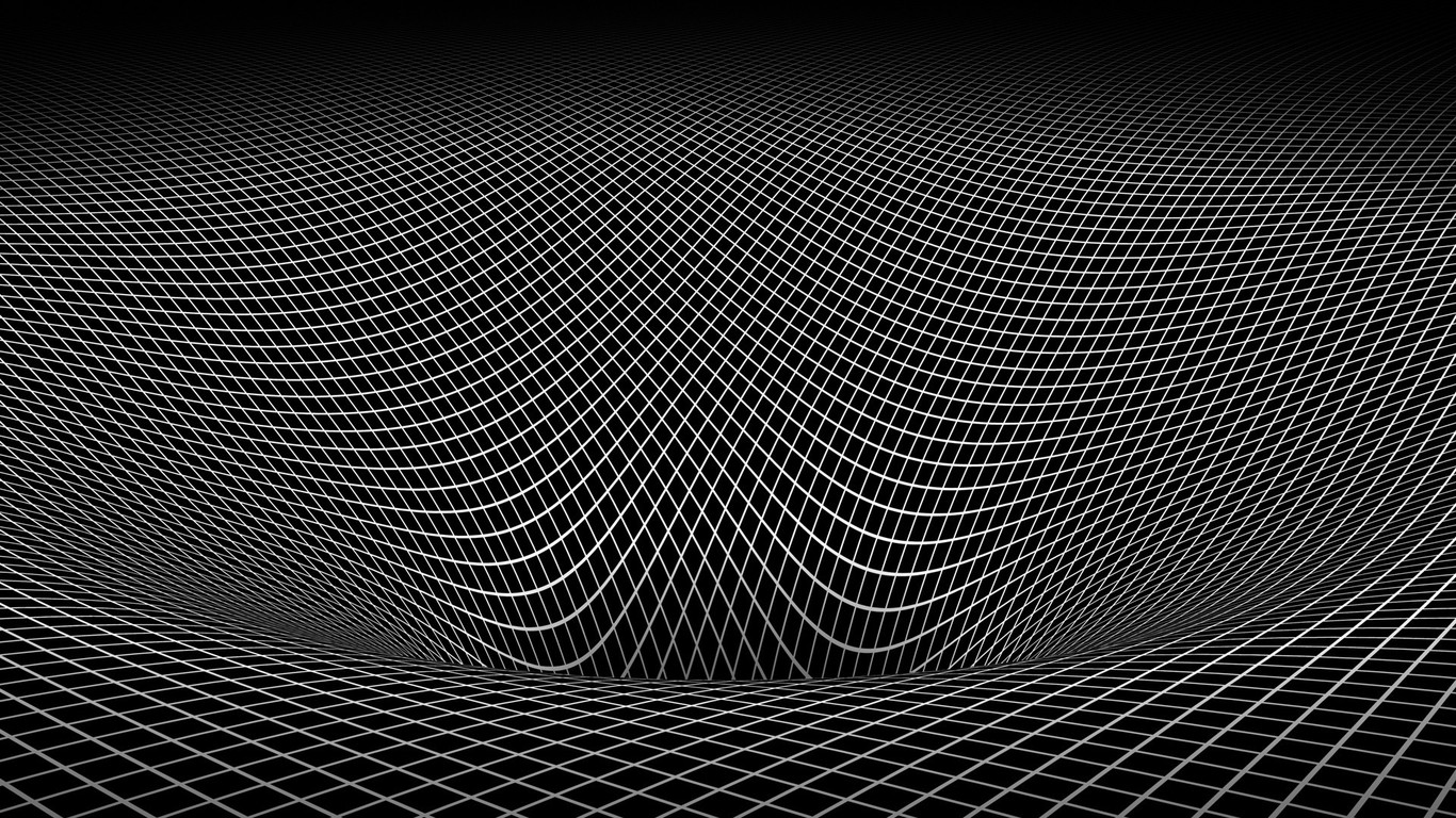 Abstract black and white gravity hole 3d warped wallpaper for Black and white 3d wallpaper