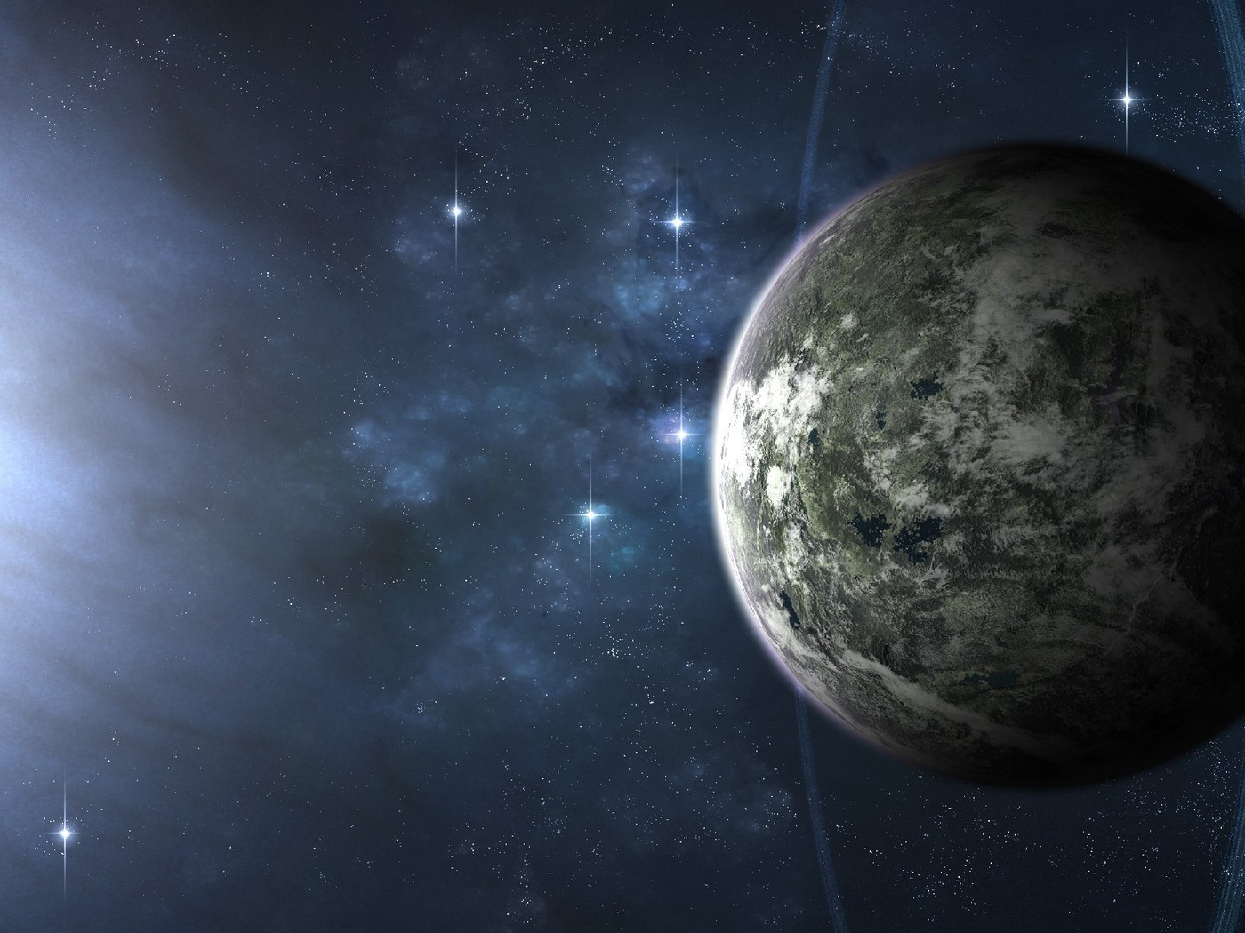 Outer space planets science fiction wallpaper for Outer space planets