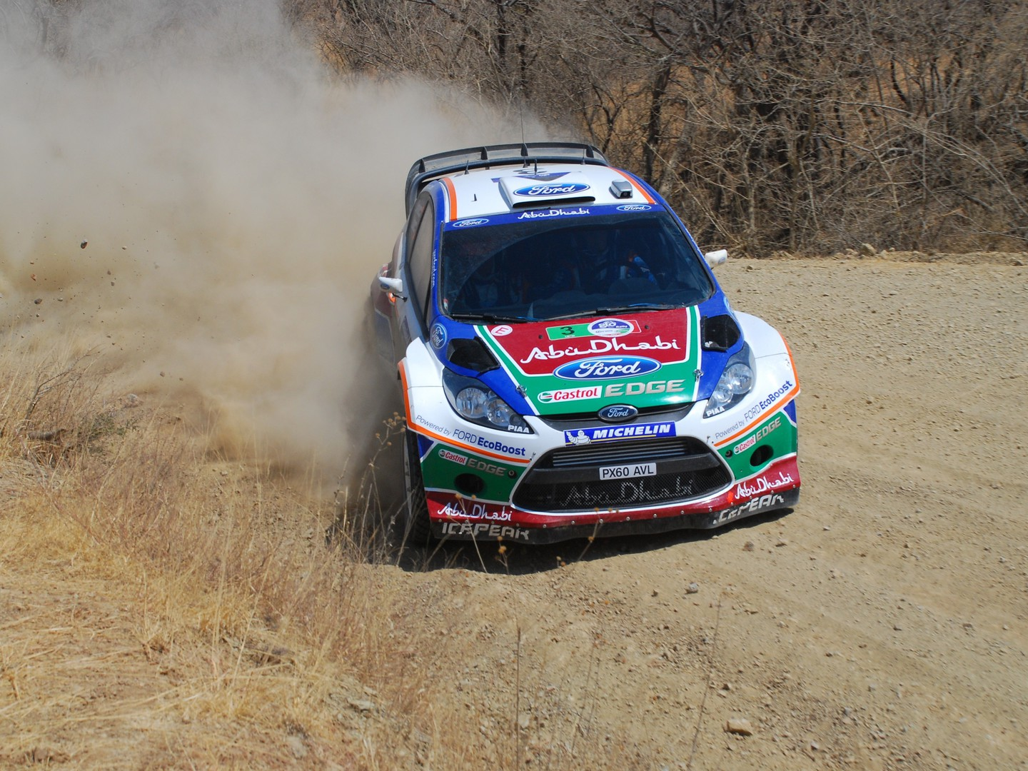 Ford Fiesta Wrc Mexico World Rally Championship Wallpaper
