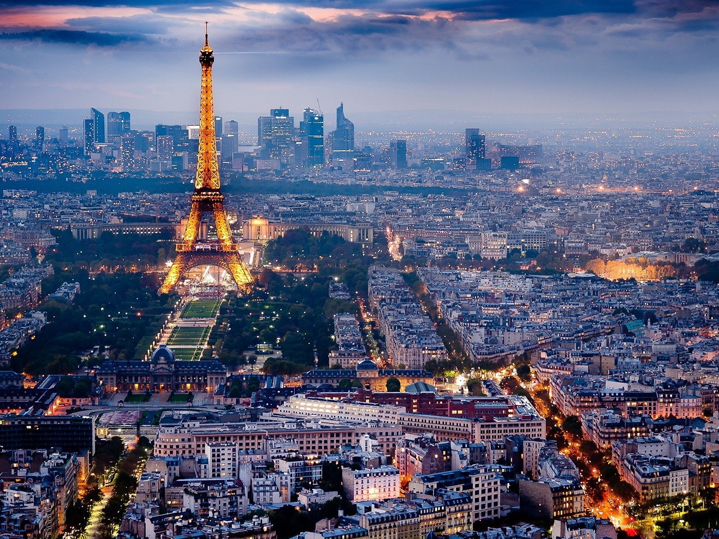 Eiffel tower paris city lights skyline wallpaper  AllWallpaper.in 3209  PC  en