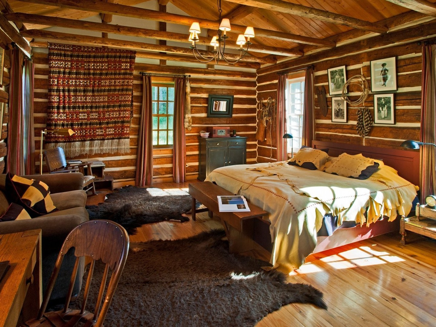 Log Cabin Bedroom Suite Wallpaper Allwallpaper In 6573