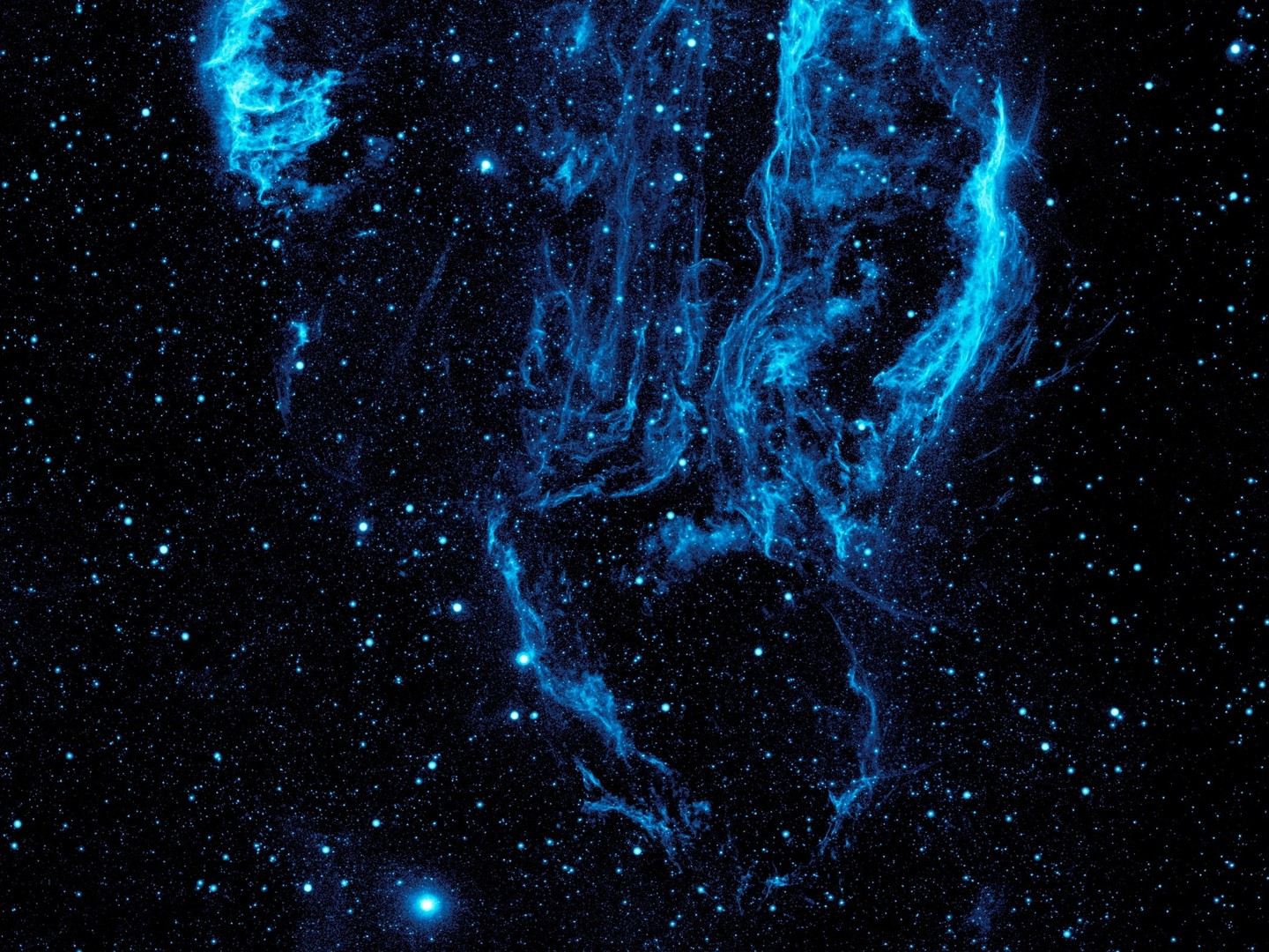 Blue nebulae outer space stars wallpaper for Outer space stars