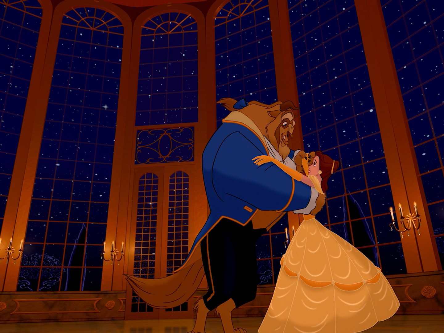 Dancing Beauty And The Beast Belle Disney Wallpaper