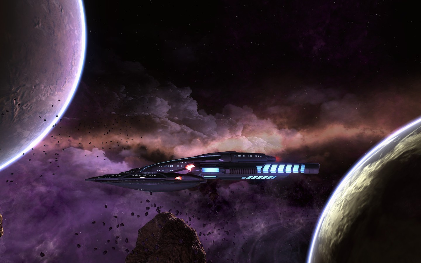 Outer Space Planets Nebulae Star Trek Online Spaceships