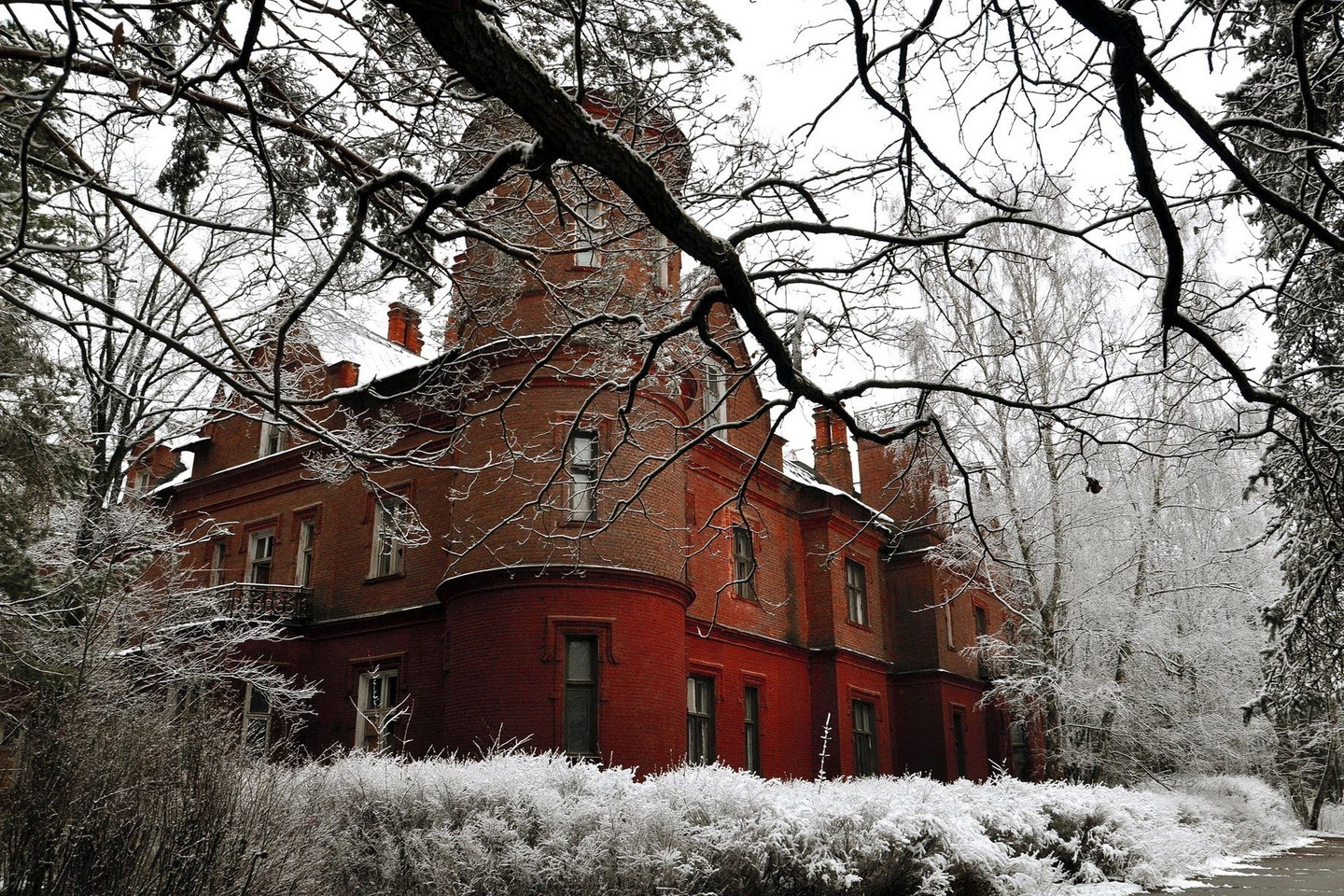 Architecture Buildings Snow Winter Wallpaper