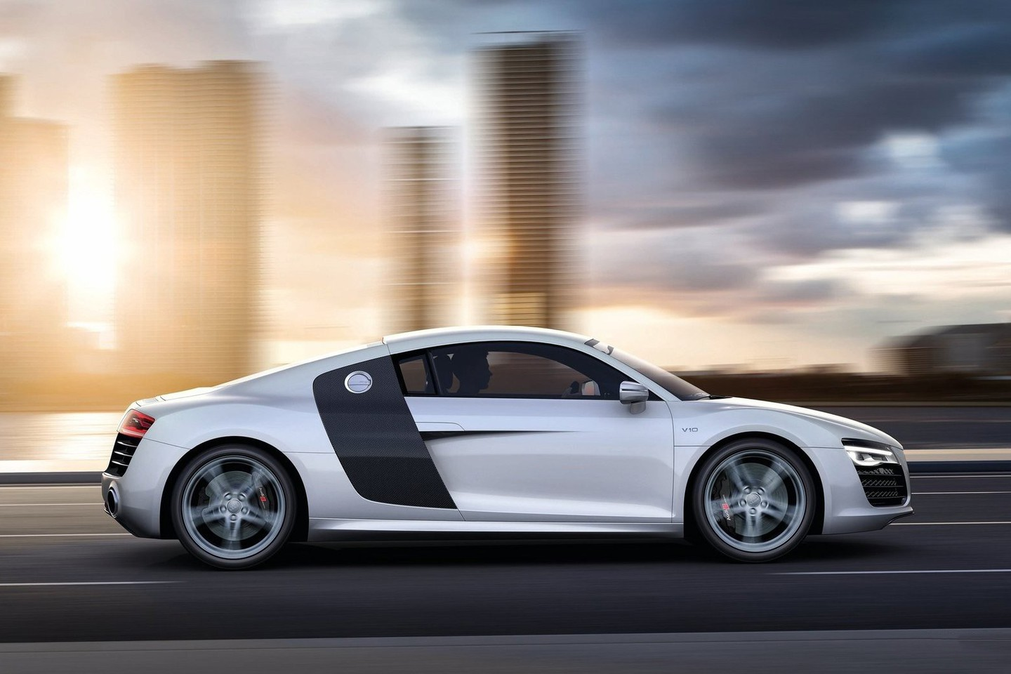 Cars Audi Roads R8 White V10 Wallpaper Allwallpaper In