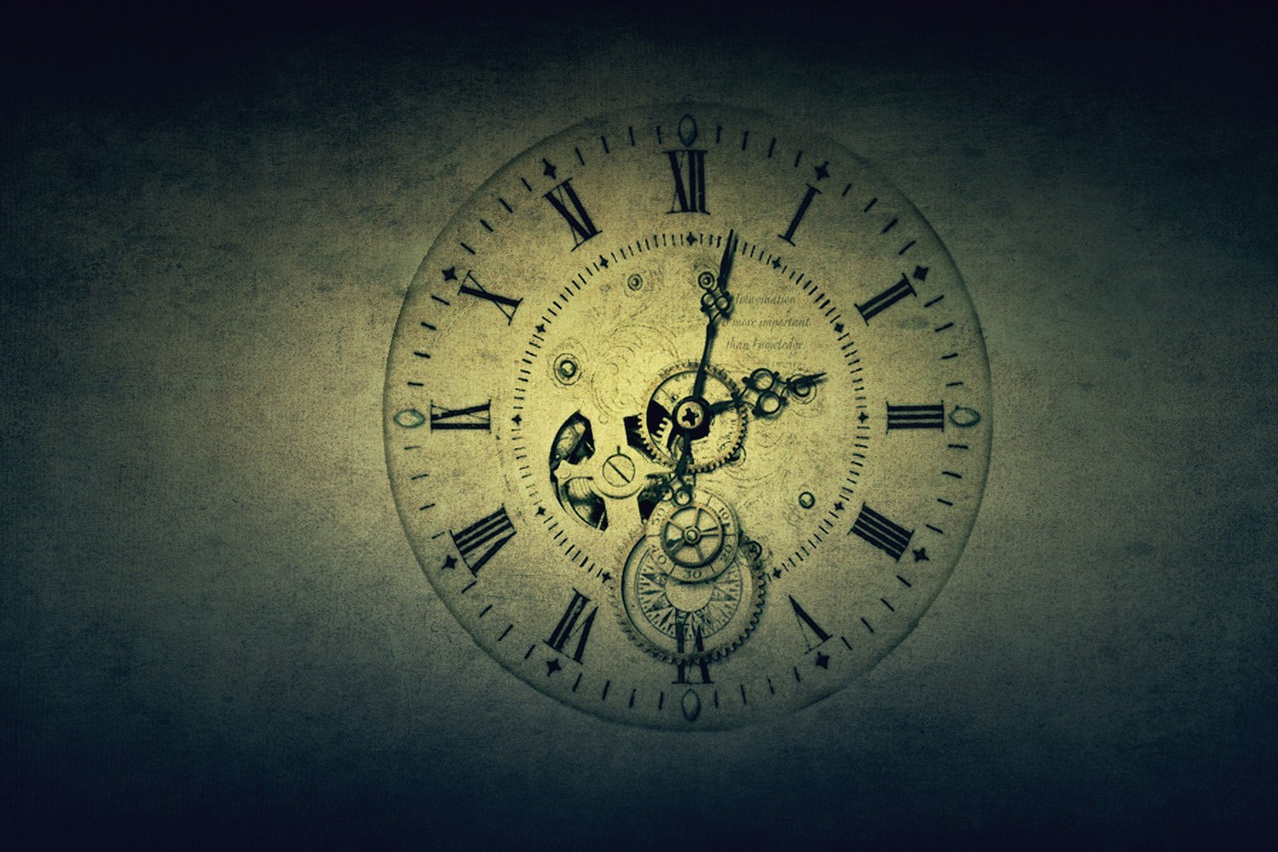 Clocks Digital Art Wallpaper