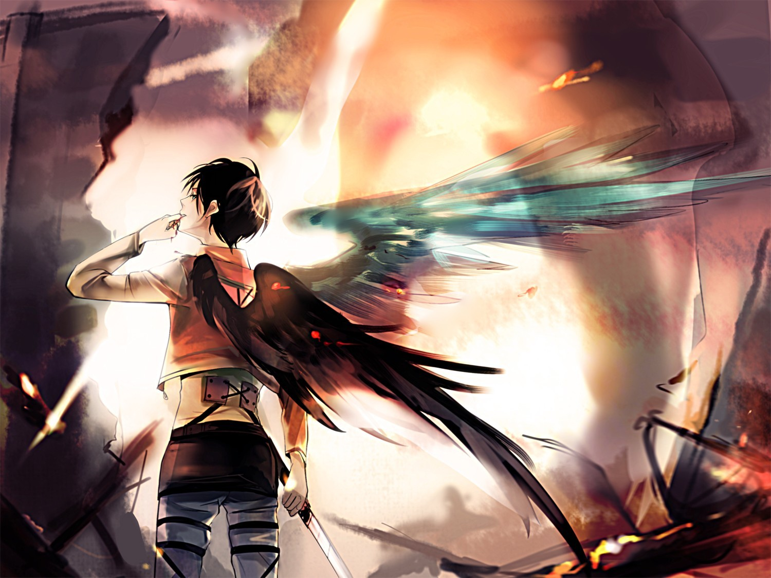 Boys Paintwork Shingeki No Kyojin Eren Jaeger Wallpaper