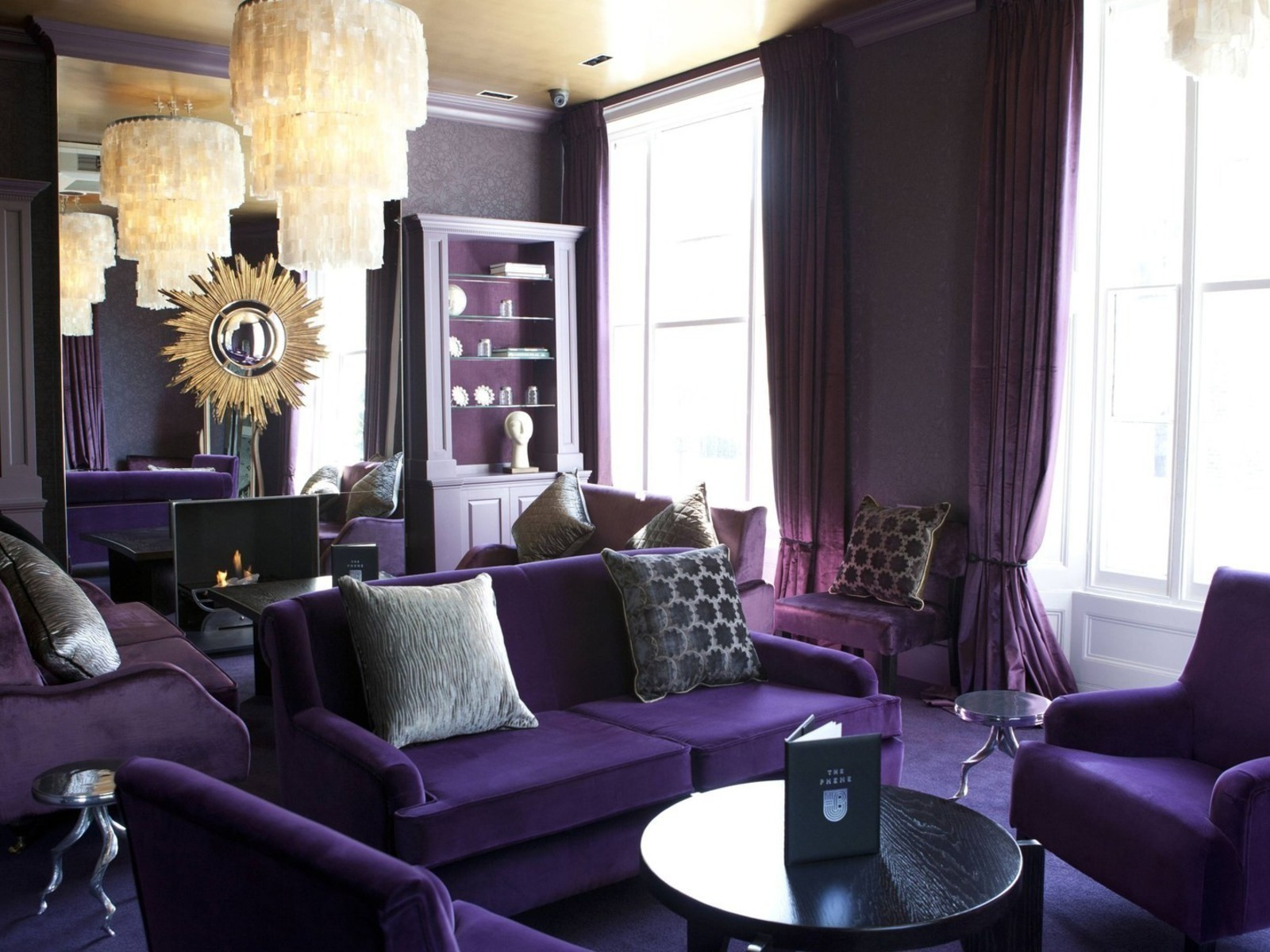 Purple Decorations For Living Room Purple Wallpaper Ideas For Living Room Yes Yes Go