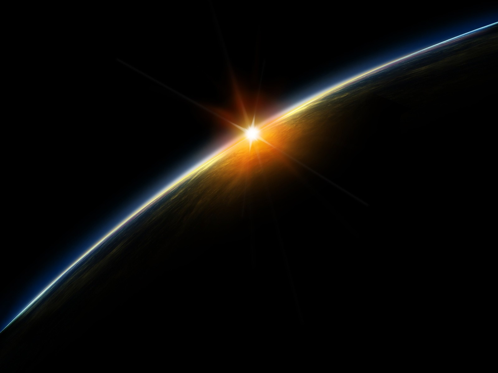 Best Wallpaper Mobile Space - sunset-from-space-1600x1200-wallpaper  Pictures_255698.jpg