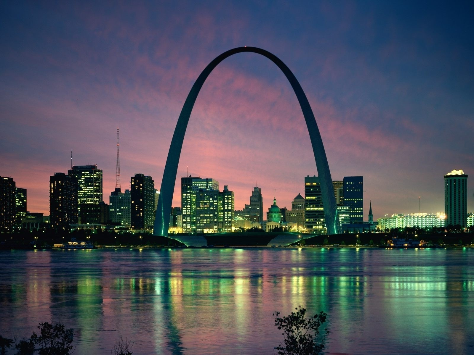 Cityscapes night architecture buildings st louis cities for Architect st louis mo