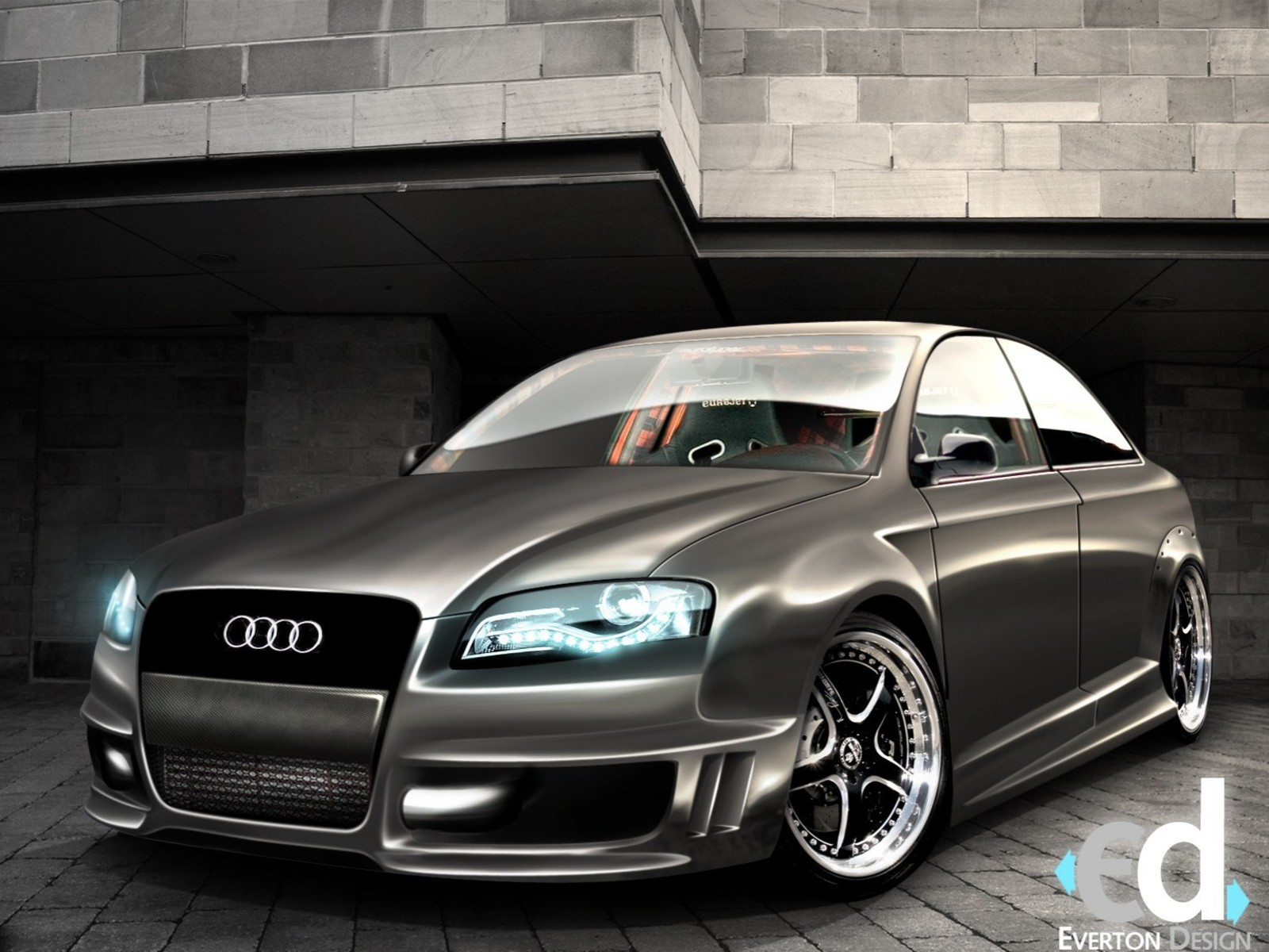 Cars Audi Tuning D Wallpaper AllWallpaperin PC En - Audi car 3d