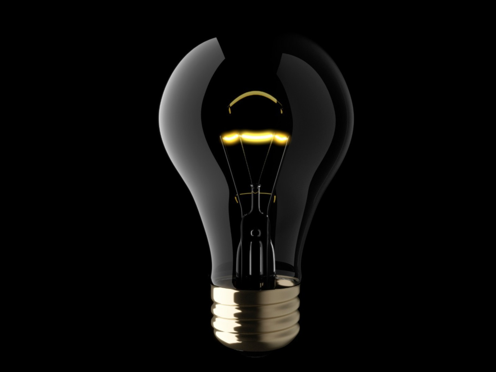 Cgi black background light bulbs minimalistic objects wallpaper
