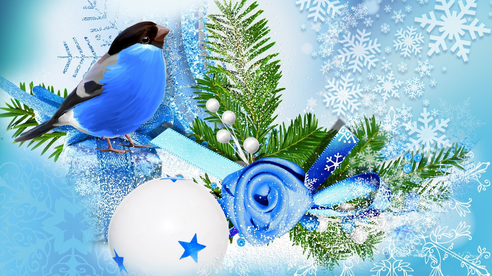 blue bird winter season wallpaper allwallpaperin 13964