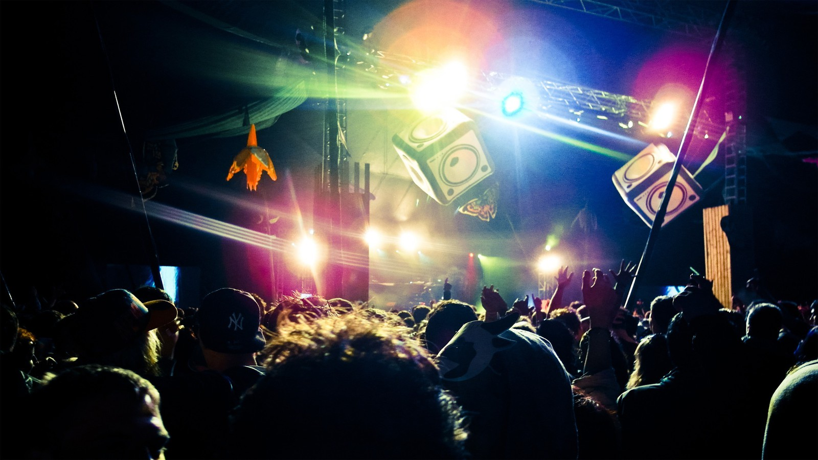 Night lights people party events wallpaper | AllWallpaper ...