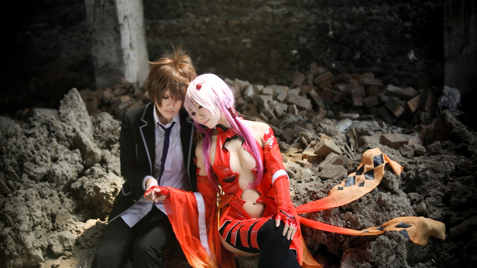 Guilty Crown – Ouma Shu and Yuzuriha Inori widescreen wallpaper ...