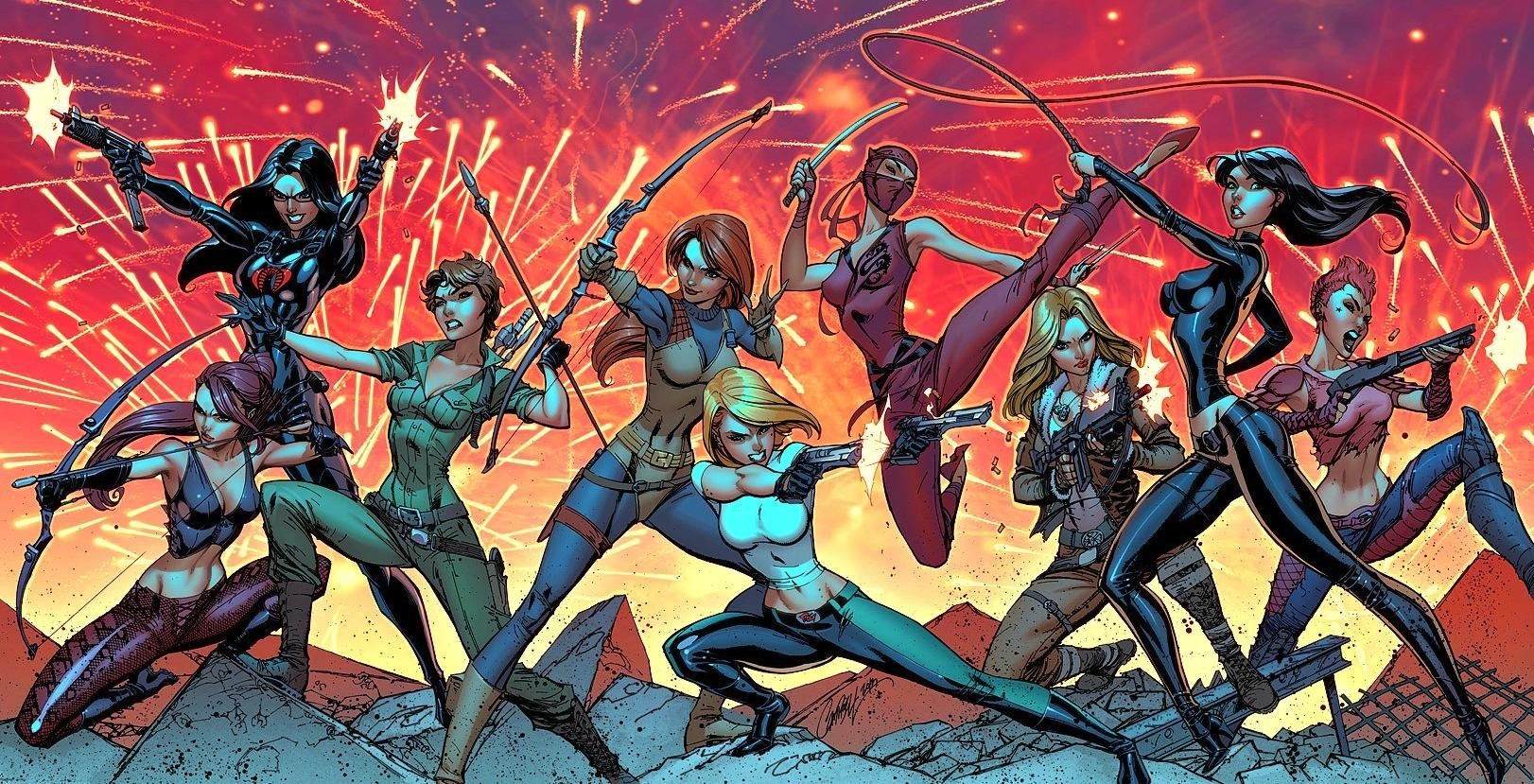 Comics Scarlett Baroness Gi Joe Danger Girl Girls Wallpaper