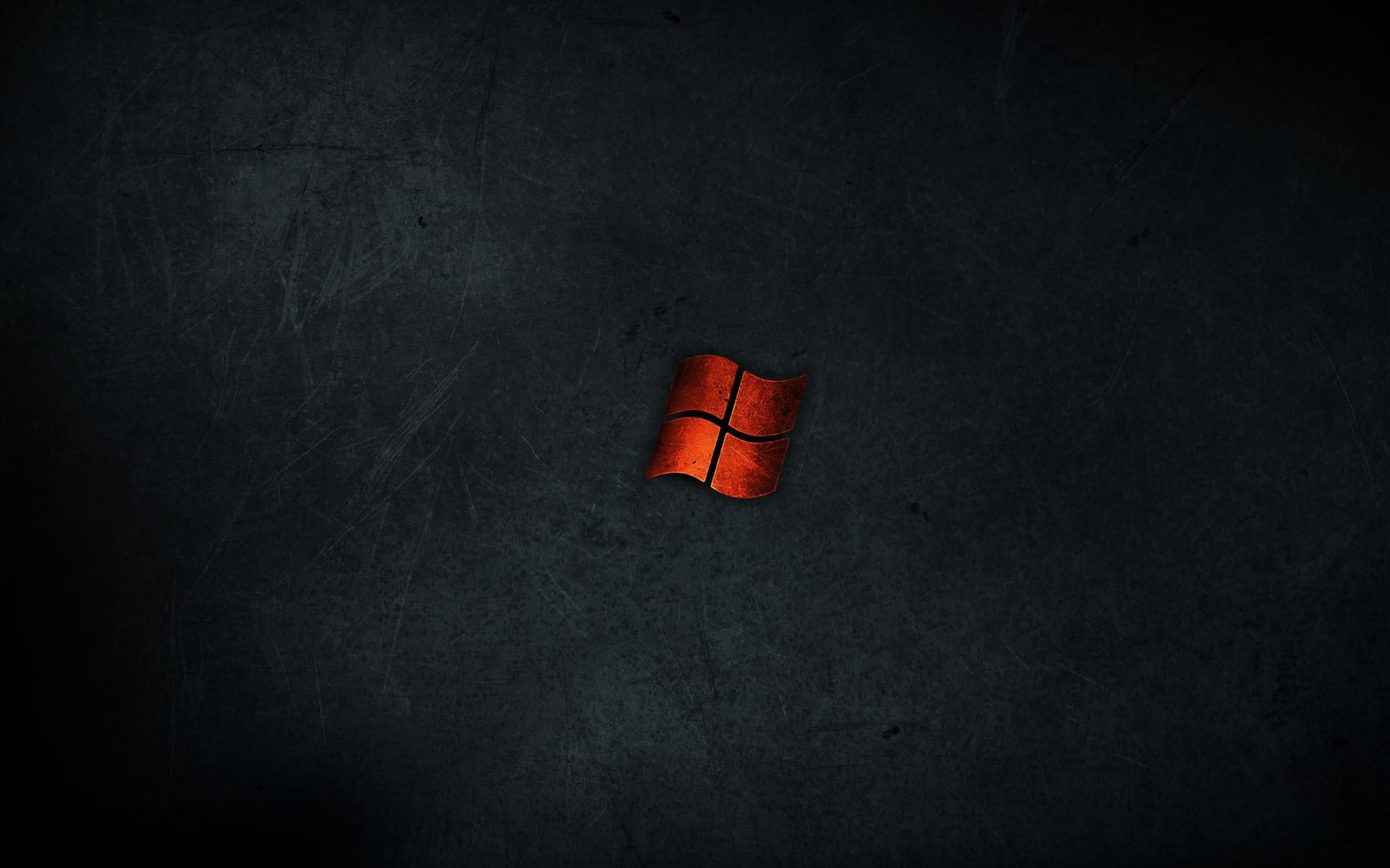 Minimalistic Dark Red Metal Windows Wallpaper