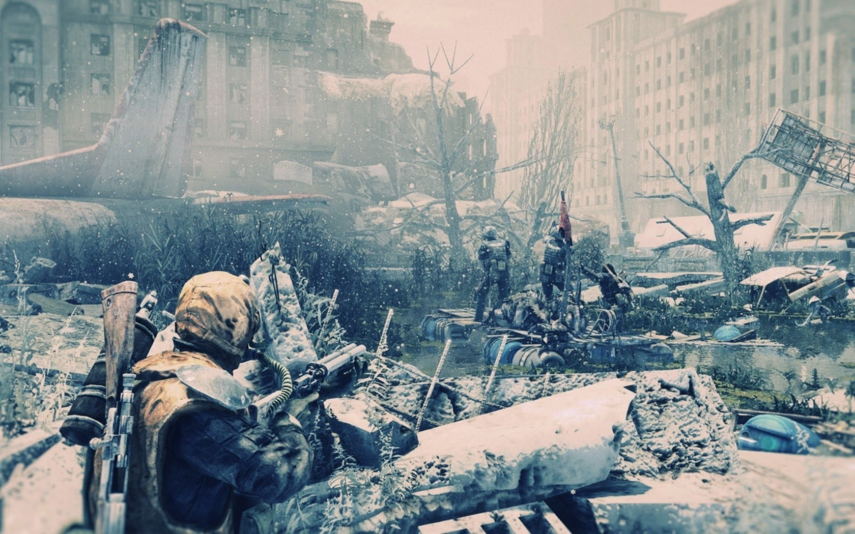 Video Games Guns Weapons Metro Last Light Wallpaper