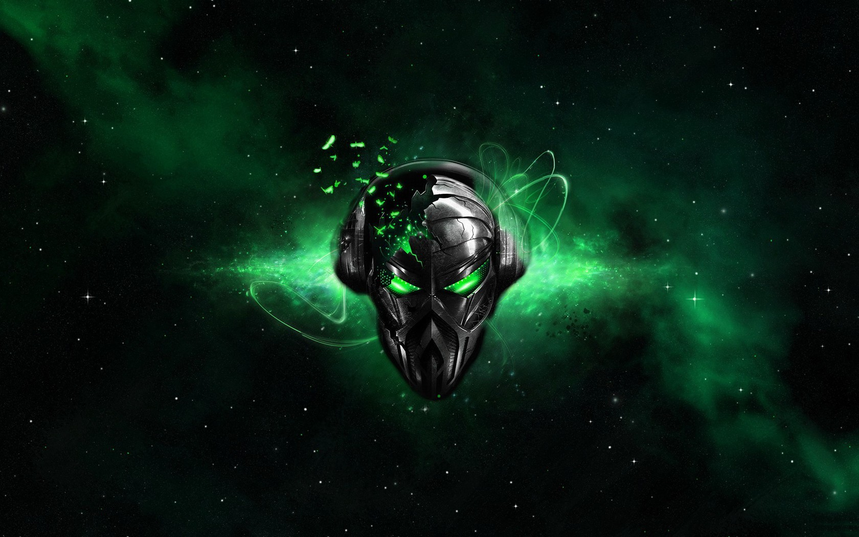 Destruction Destroyed Glowing Alienware Alien Black Background