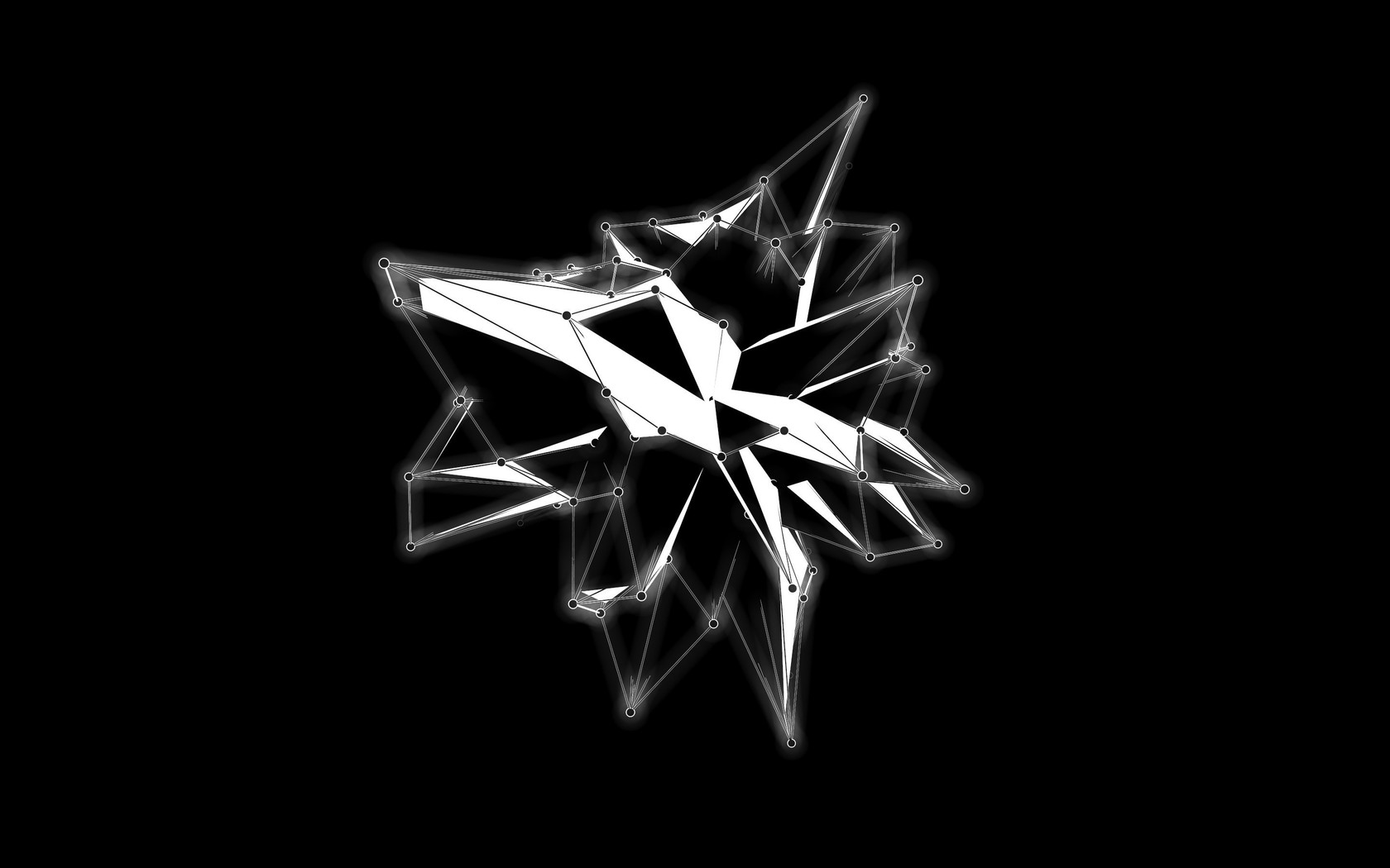 Abstract Black And White Background Geometry Lines Wallpaper