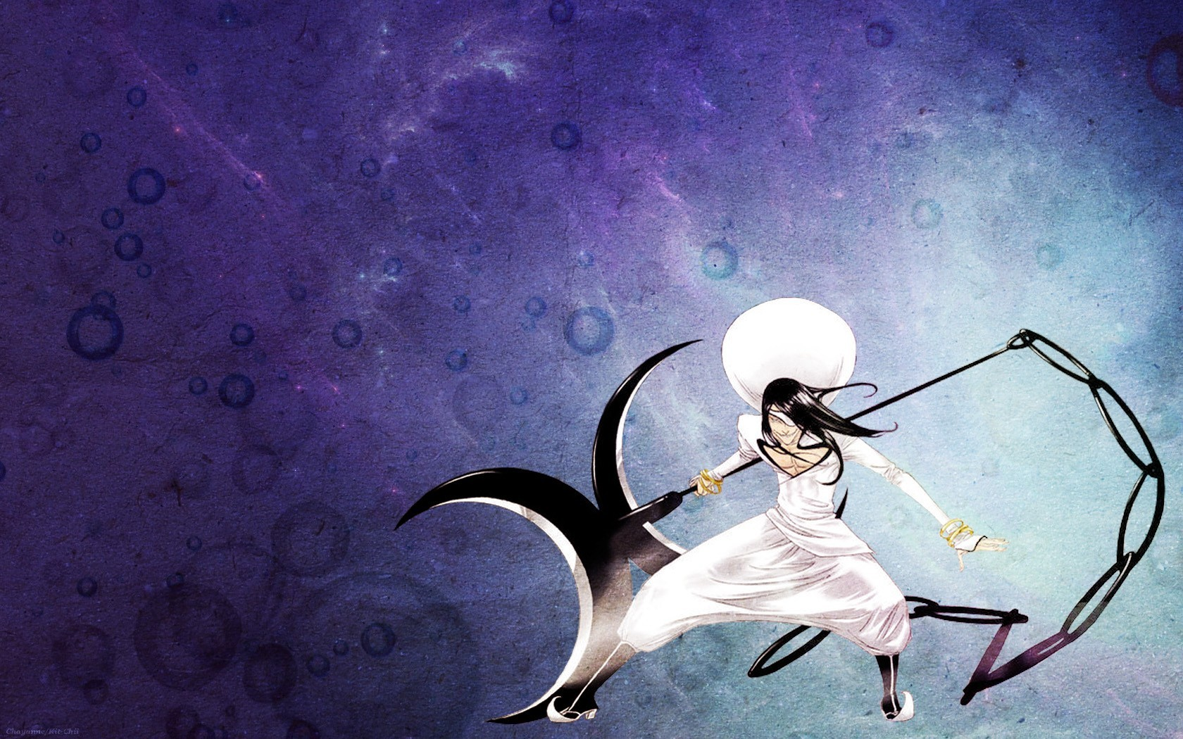 Scythe Bleach Long Hair Bubbles Espada Nnoitra Gilga Wallpaper