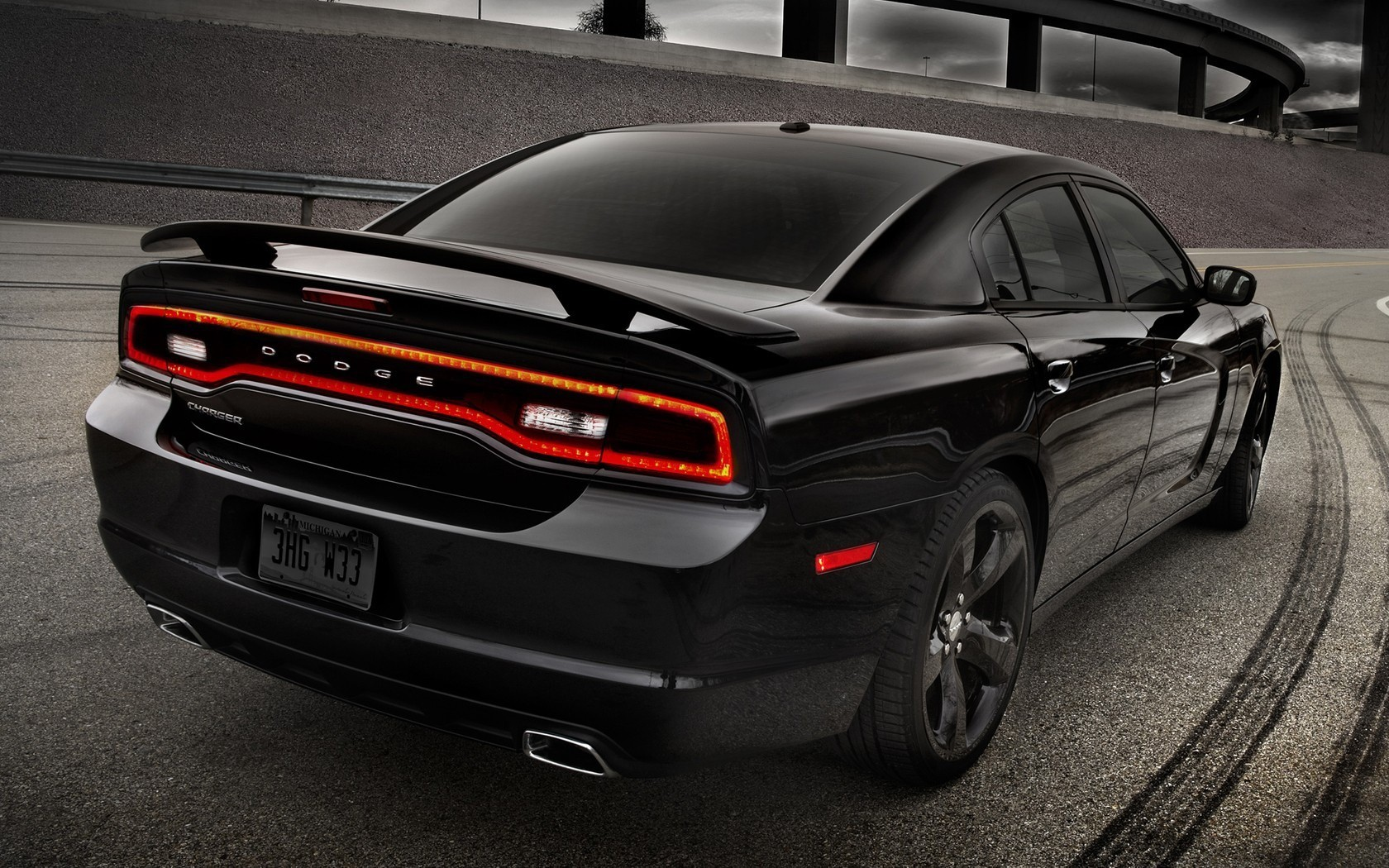 Cars vehicles dodge charger rear view wallpaper | AllWallpaper.in ...
