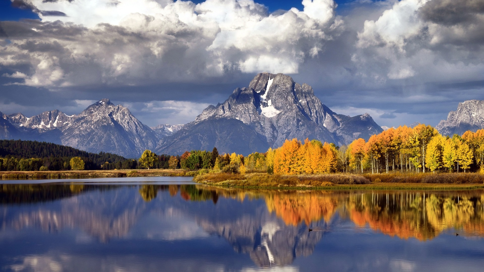 Herbstwalder Seenlandschaften Berge Wallpaper Allwallpaper In