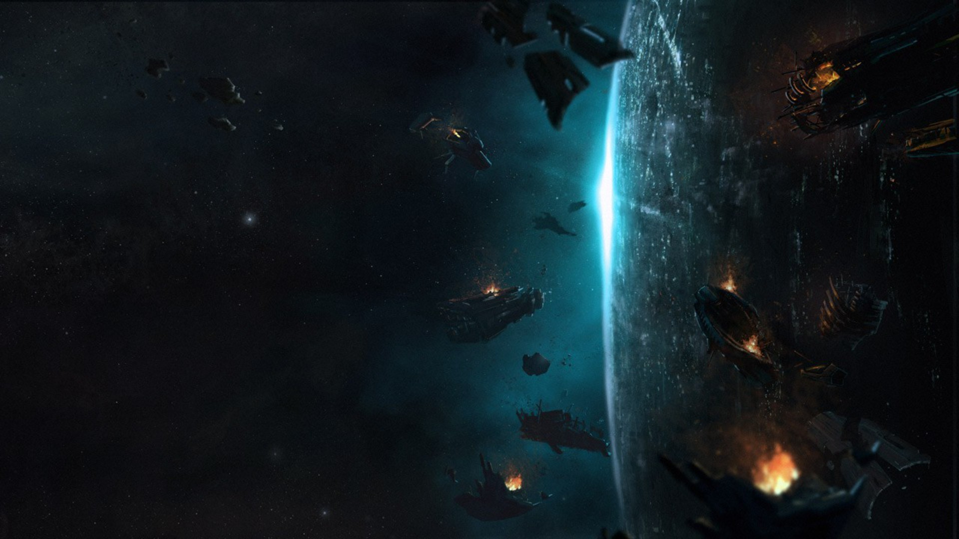 Planets halo concept art science fiction 4 wallpaper ...