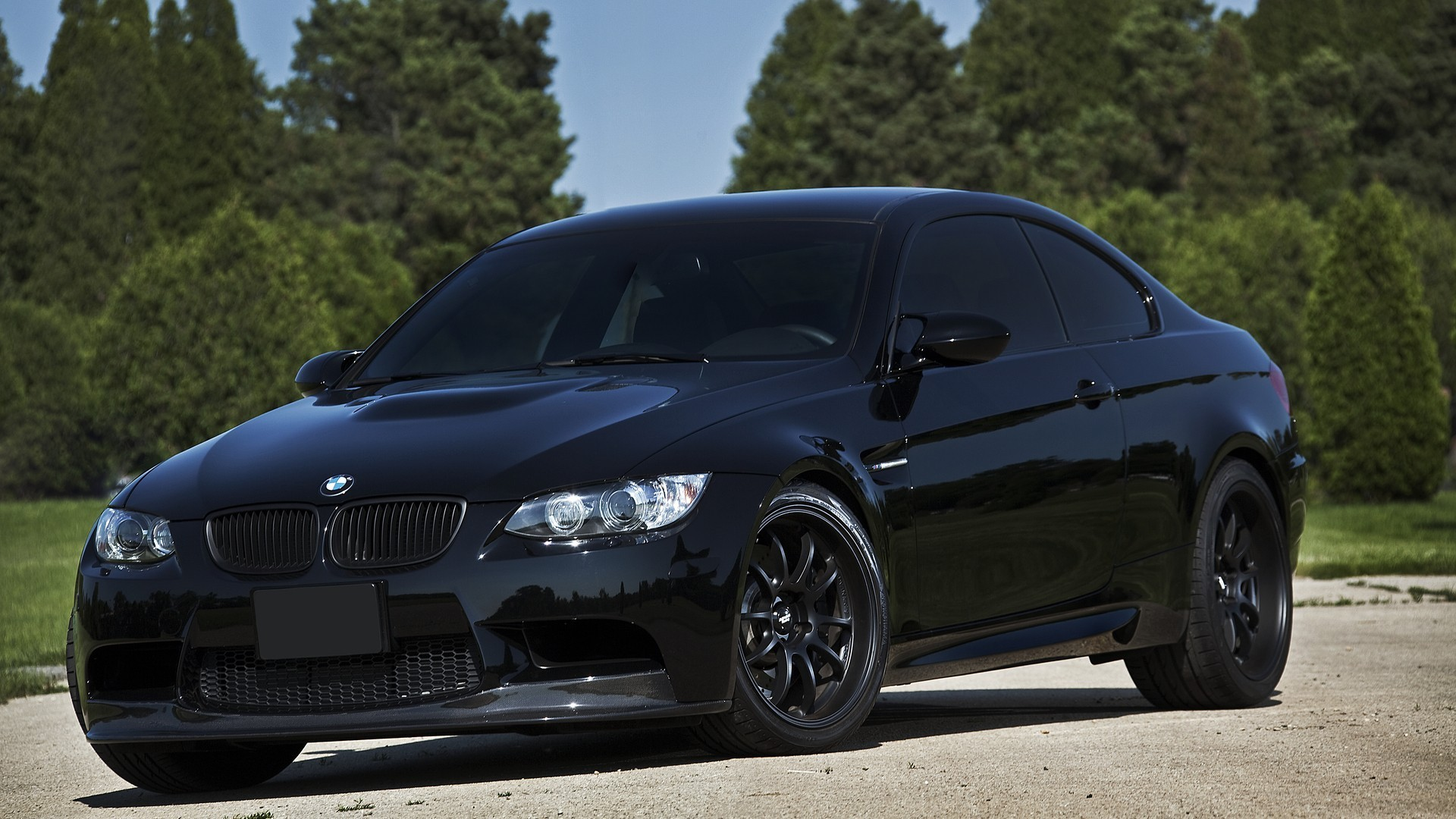 Bmw M3 Germany Black Cars Nature Wallpaper