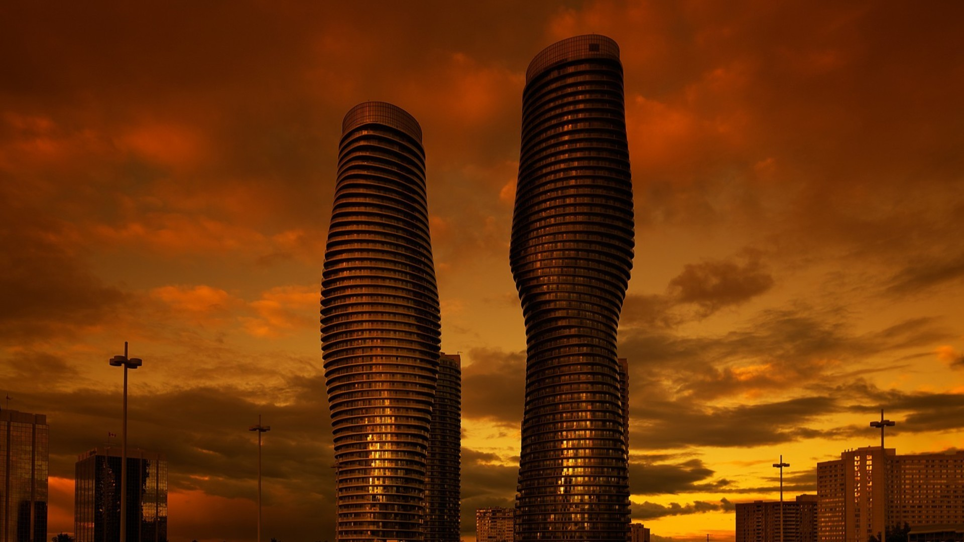 Modern Architecture In Mississauga Ontario Wallpaper