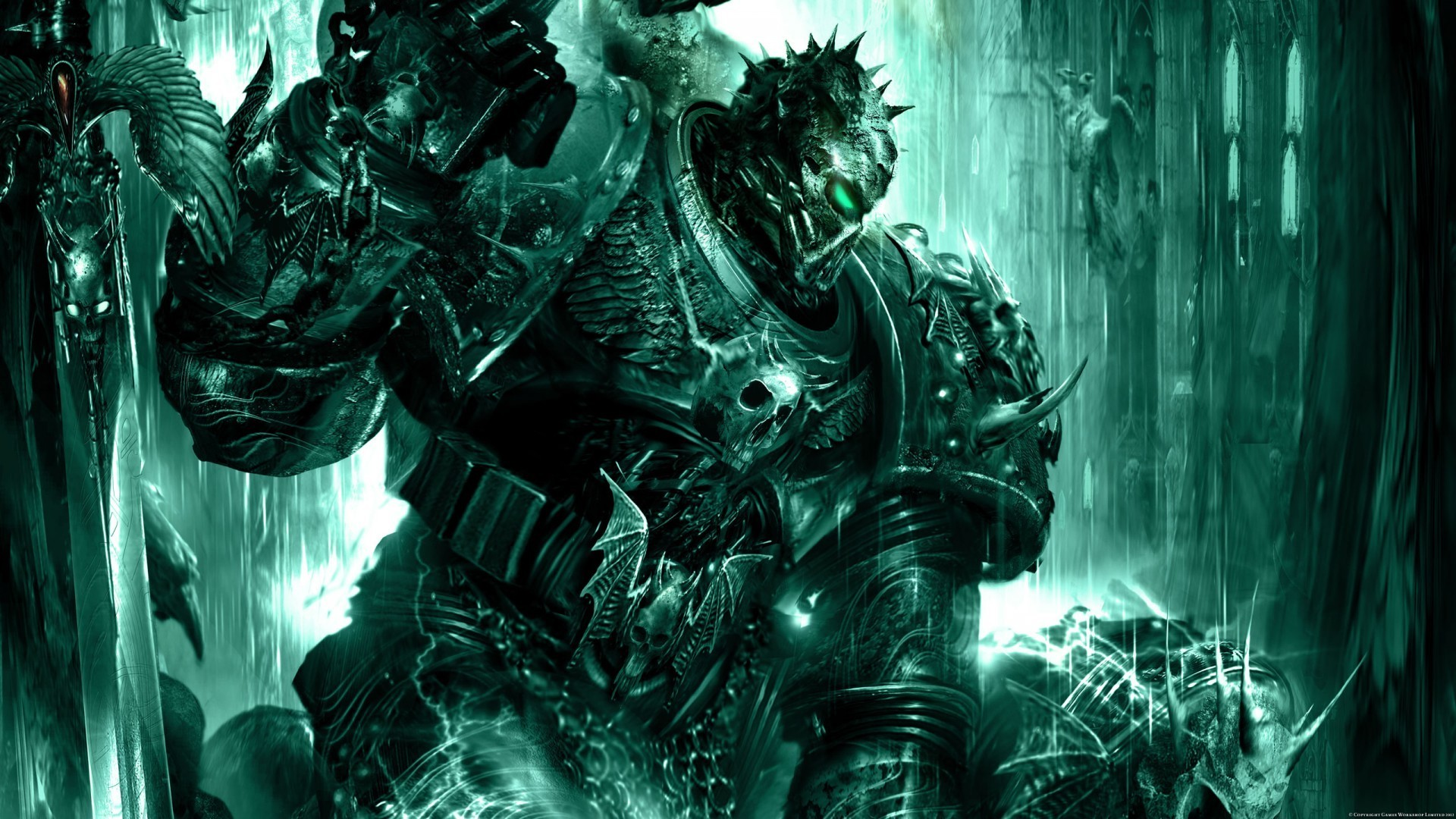 Artwork chaos space marine soul hunter talos wallpaper ...